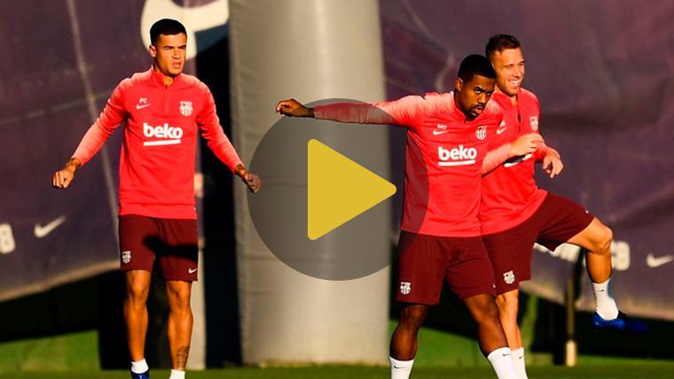 Malcom y Sergi Roberto ya entrenan y aspiran a la convocatoria del Levante-Barça