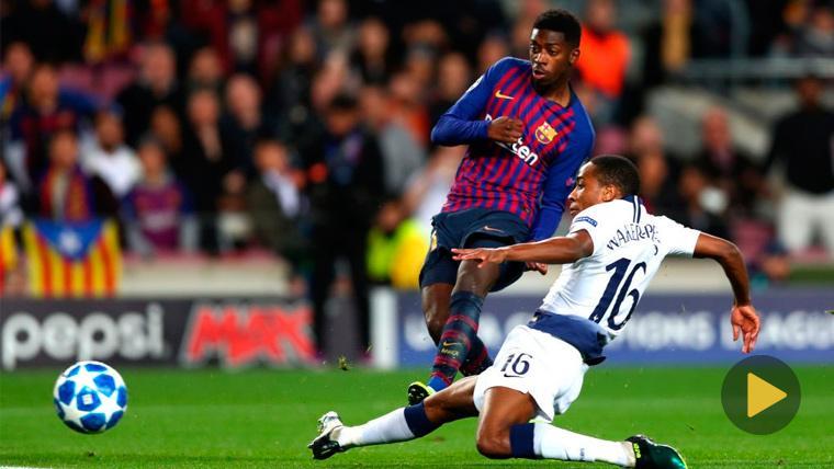 ¡PREMIO! El Mejor Gol de la Semana en la Champions es el de Dembélé al Tottenham