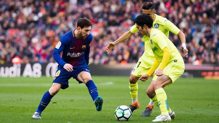Leo Messi, durante un partido disputado contra el Getafe en el Camp Nou