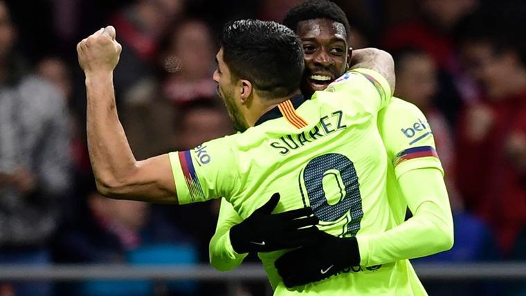 Luis Suárez, celebrando el gol marcado contra el Levante