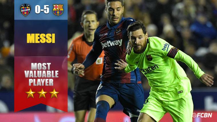 Partido descomunal de un Leo Messi que ya lleva 49 'hat-tricks'