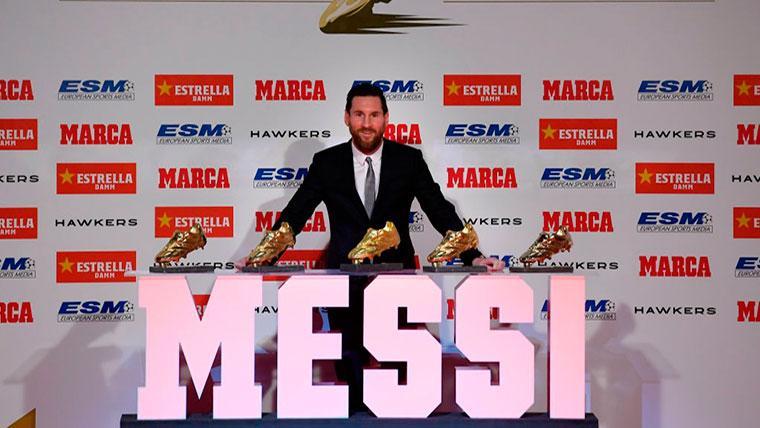 Leo Messi recibió la quinta Bota de Oro de su carrera deportiva