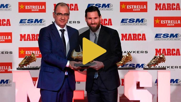 El vídeo de felicitación del Barça a Messi por su quinta Bota de Oro que se ha convertido en viral