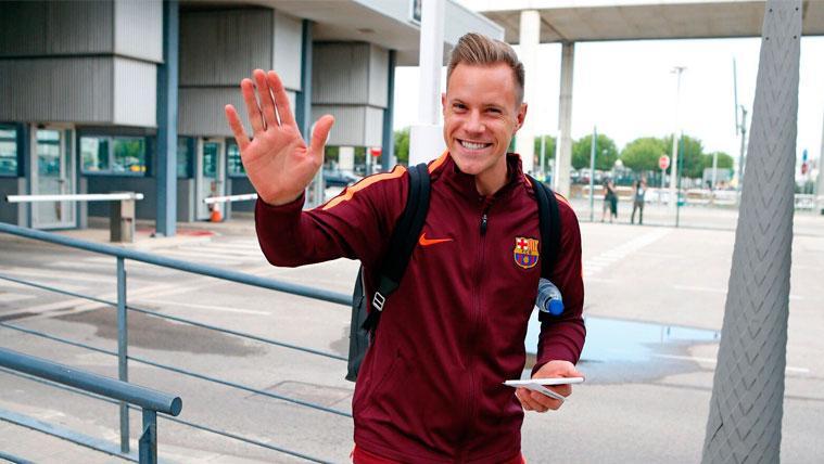 Marc-André Ter Stegen en un viaje con el FC Barcelona | FCB