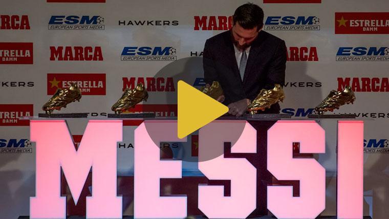 Leo Messi lidera el ránking de multipremiados en la Bota de Oro