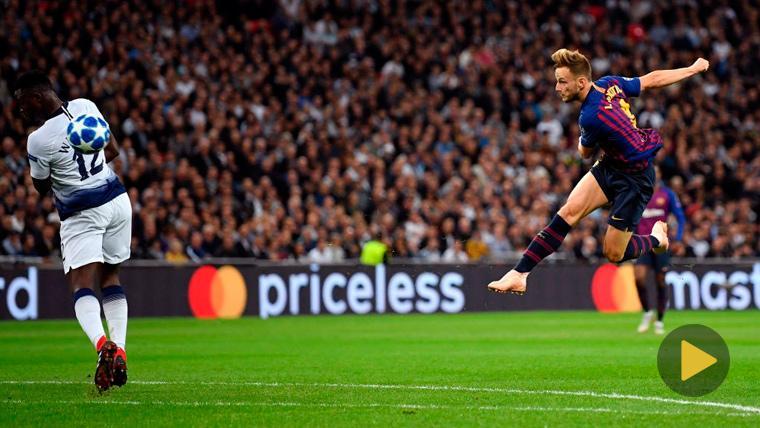 El golazo de Rakitic al Tottenham, el mejor de la fase de grupos de la Champions
