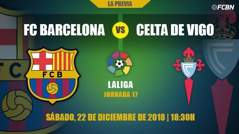 El Barcelona quiere despedir 2018 con victoria ante el Celta