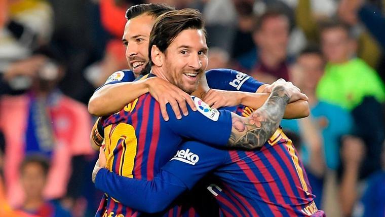 La sociedad Messi-Alba duplicó la ventaja del FC Barcelona