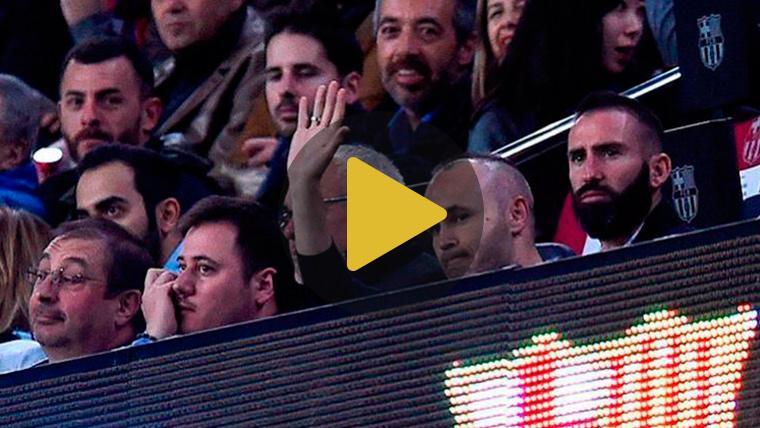 Andrés Iniesta y Jeison Murillo, invitados de lujo en el Camp Nou