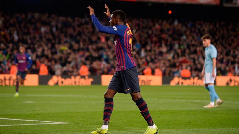 El Camp Nou cambia su actitud con Dembélé: La grada también le muestra su apoyo