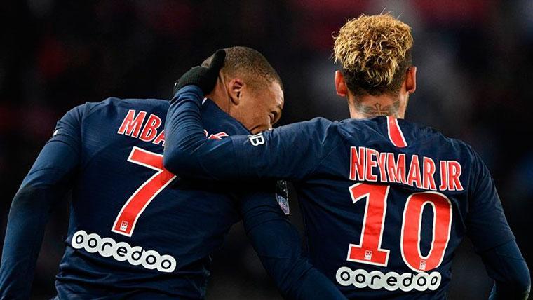 Mbappé y Neymar, durante un encuentro.