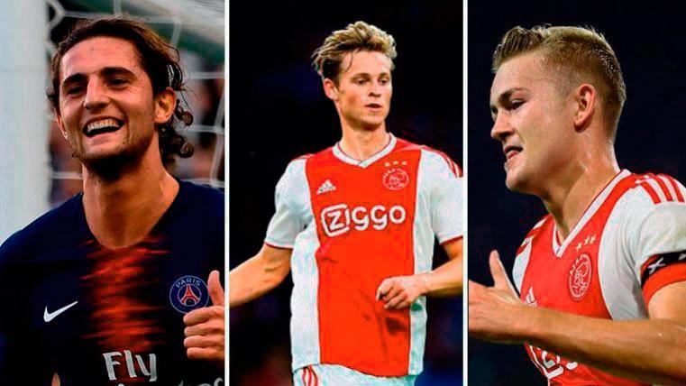 Rabiot, De Jong y De Ligt, los tres nombres propios del mercado