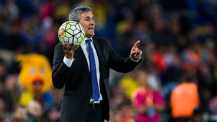 Quique Setién, técnico del Barcelona