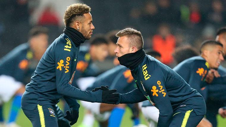 Arthur y Neymar, grandes amigos