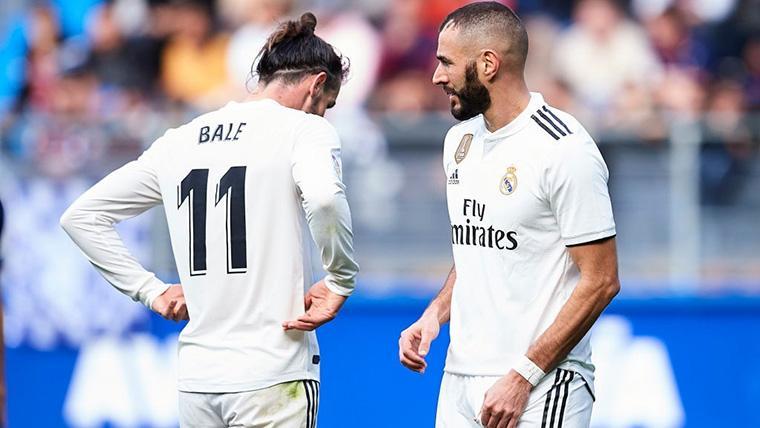 Gareth Bale y Karim Benzema, durante un partido con el Real Madrid