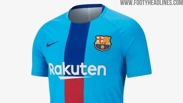 Desvelan la nueva camiseta de calentamiento del FC Barcelona ee734f4041a