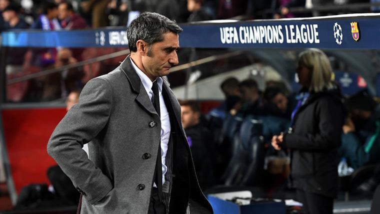 Ernesto Valverde, durante un partido de Champions League