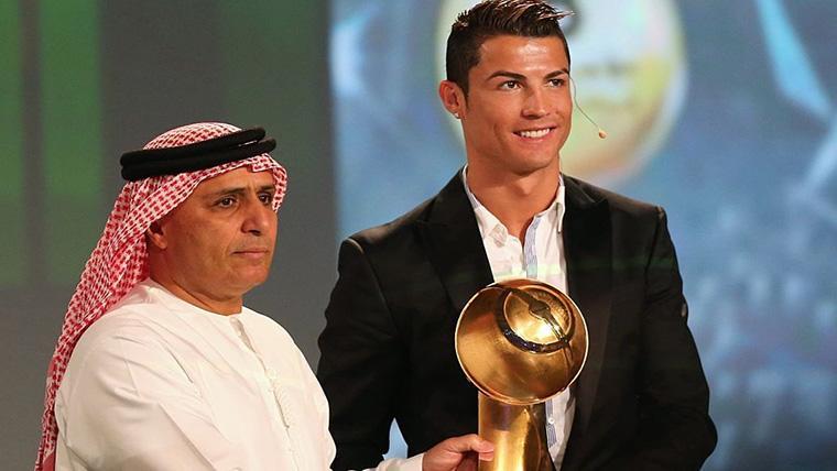 Cristiano Ronaldo gana el Globe Soccer Award en un podio sin Messi y Modric