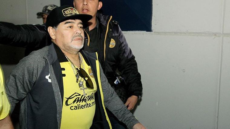 Primeras palabras de Maradona tras abandonar el hospital