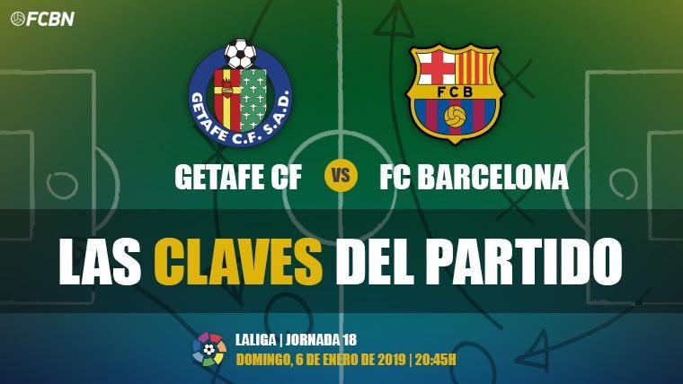 Las claves del Getafe-FC Barcelona de LaLiga 2018-19