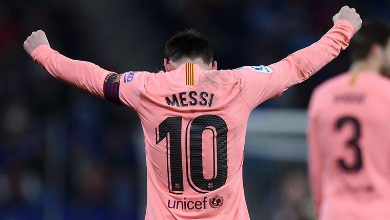 Leo Messi, celebrando el gol marcado contra el Getafe