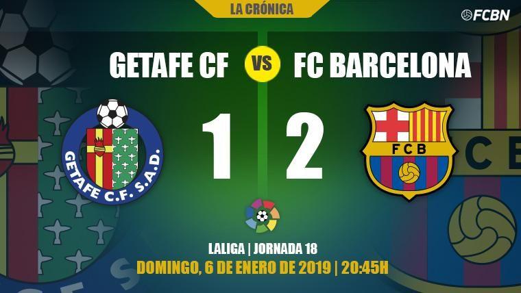 Crónica del Getafe-FC Barcelona de la J18 de la Liga Santander