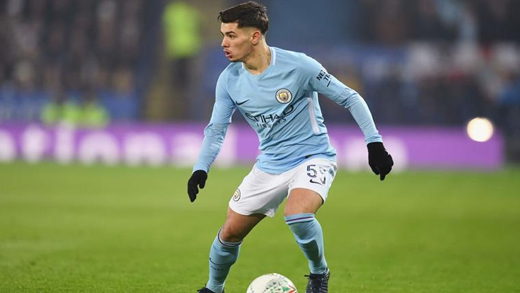 Brahim Díaz, durante un partido con el Manchester City