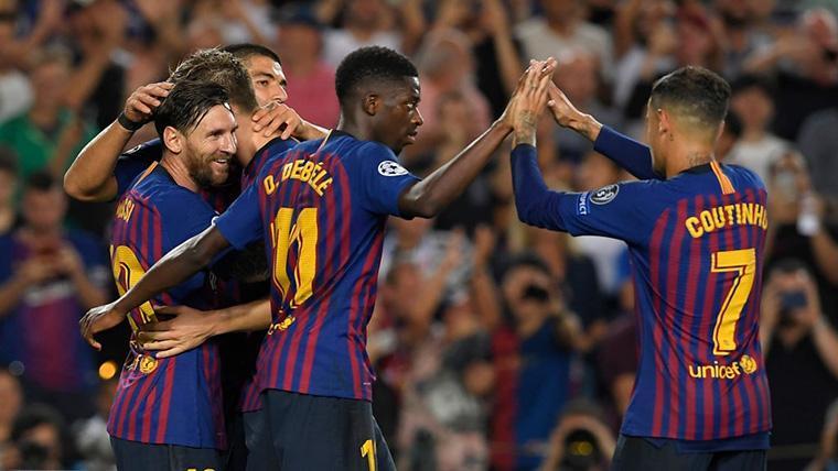 Dembélé ya supera en minutos a Coutinho en el Barça 2018-19