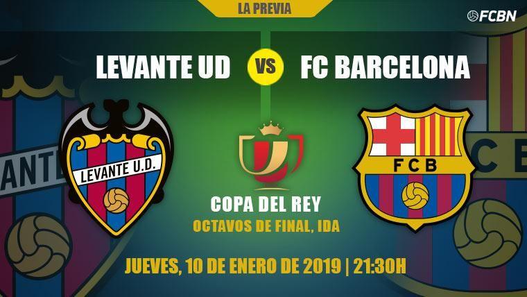 Previa del Levante-FC Barcelona de la ida de octavos de la Copa del Rey