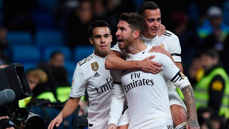 Los jugadores del Real Madrid celebran un gol en la Copa del Rey