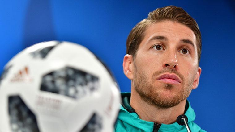 Sergio Ramos, durante una rueda de prensa