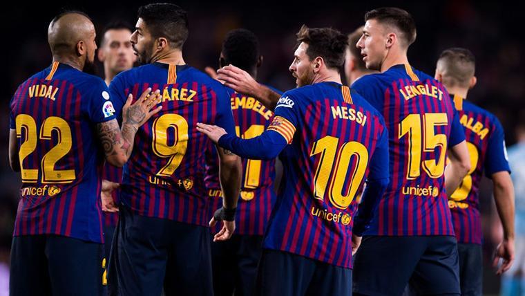 Leo Messi y el FC Barcelona, celebrando un gol en el Camp Nou