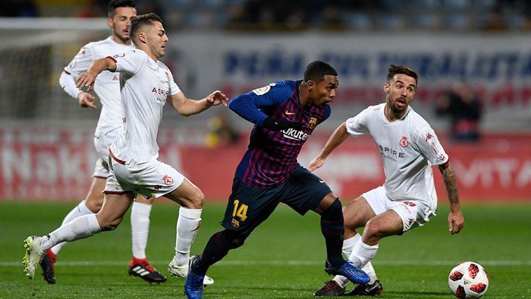 Malcom, durante un partido amistoso con el FC Barcelona