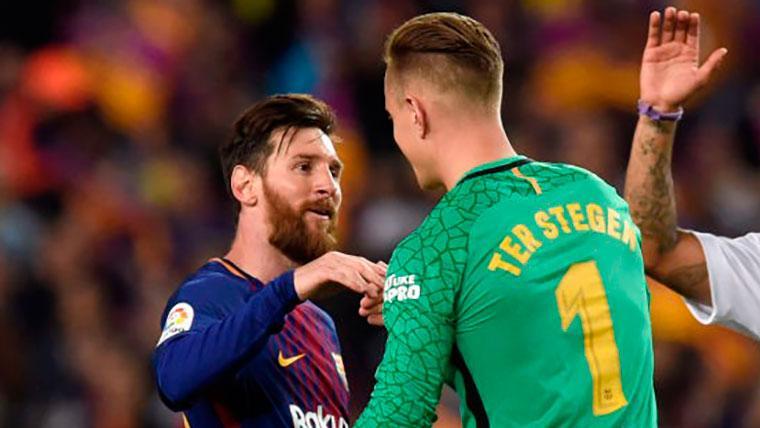Leo Messi y Ter Stegen, en el once ideal de la UEFA en 2018