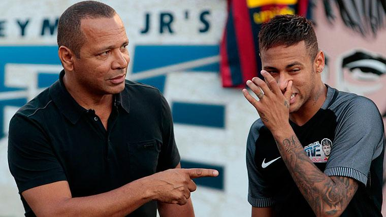 Neymar Senior respondió