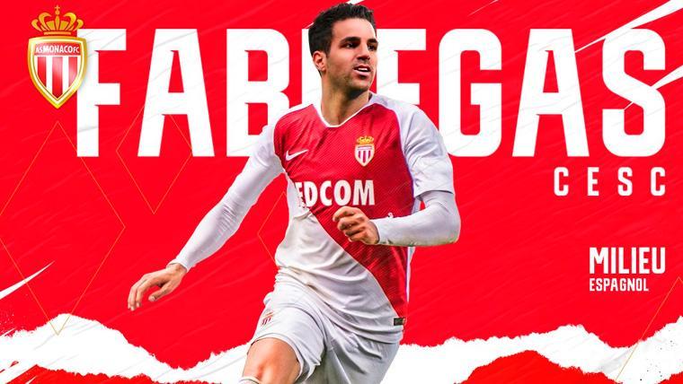 El anuncio del fichaje de Cesc Fábregas publicado por el Monaco
