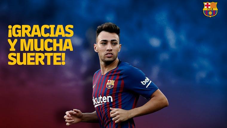 El mensaje de despedida del FC Barcelona a Munir El Haddadi