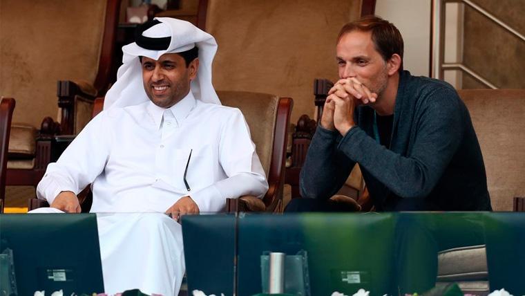 Nasser Al-Khelaïfi y Thomas Tuchel en un acto en Qatar