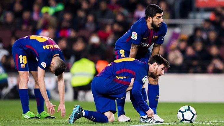 Leo Messi y Luis Suárez en un partido del FC Barcelona