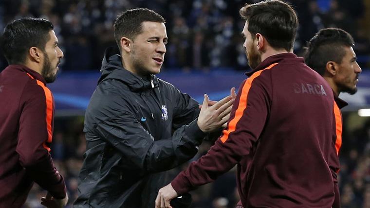 'Messi es el mejor jugador de todos los tiempos': Hazard