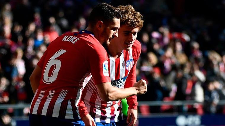 El Atlético supera al Levante (1-0) y sigue luchando con el Barcelona por LaLiga