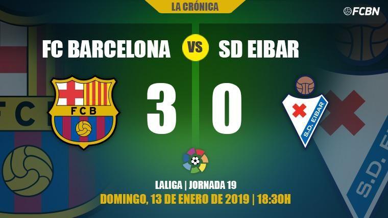 El Barça desactiva a un efusivo Eibar y le arrolla con alegría en el Camp Nou (3-0)