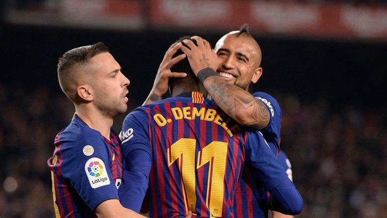 ¡Doblete afortunado de Dembélé para fraguar la remontada del Barça en Copa del Rey!