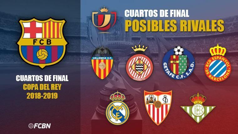 Estos son los 7 posibles rivales del Barcelona en cuartos de Copa ...