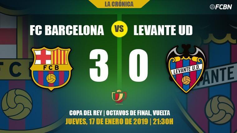 El Barça derrota al Levante en el campo y espera veredicto de la RFEF en Copa (3-0)