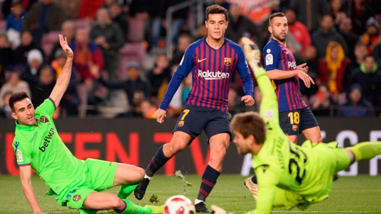 Coutinho también mejora en la Copa del Rey: Sólo se le resistió el gol