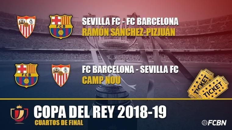 Entradas FC Barcelona vs Sevilla - Copa del Rey 2018-2019
