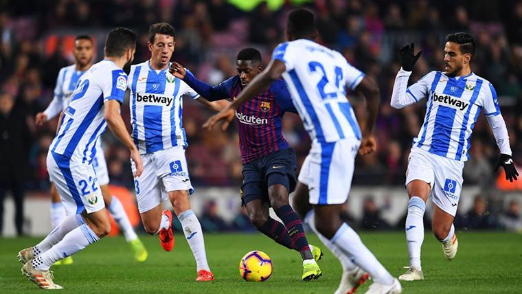 Jugadas de fantasía de Dembélé para maravillar al Camp Nou en el Barça-Leganés
