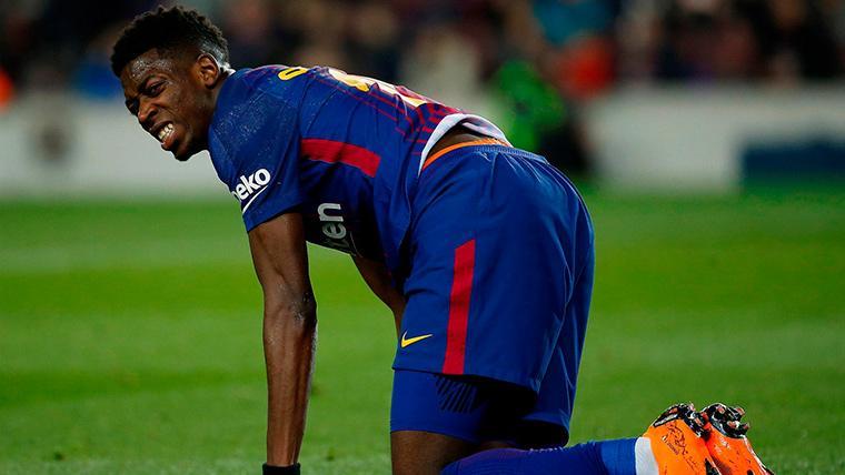 ALARMA: ¡Dembélé se lesiona del tobillo en el Barça-Leganés!