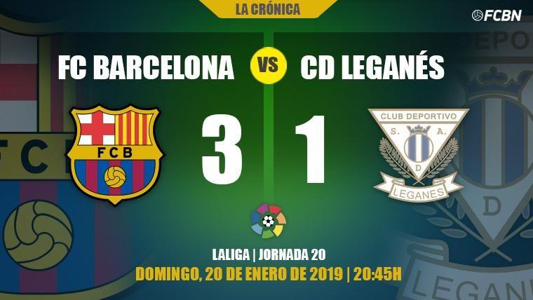Agridulce rescate de Messi a un Barça que perdió a Dembélé contra el Leganés (3-1)